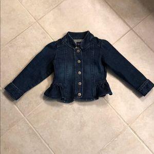 Peplum denim jacket